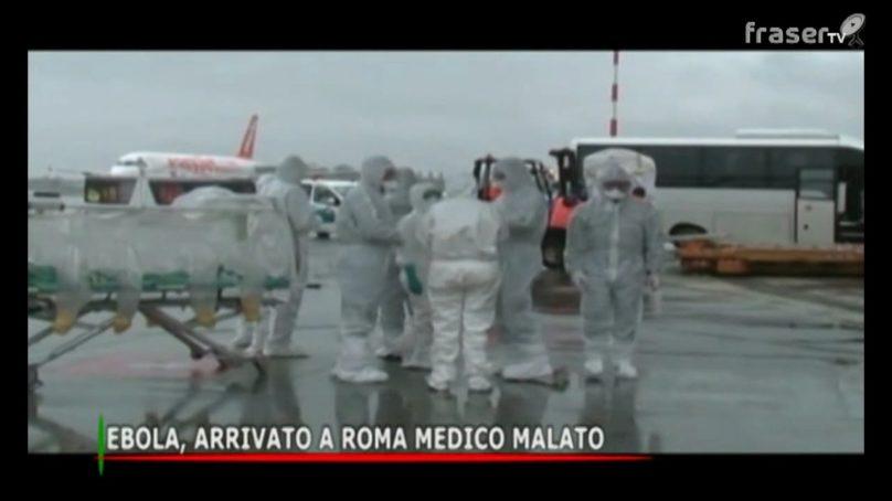 EBOLA, arrivato a roma medico malato