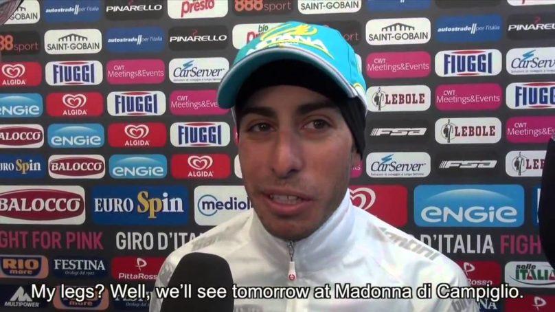 Giro d'Italia 2015 stage 14 Alberto Contador and Fabio Aru post race interview